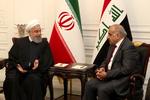 عراقی وزیر اعظم کی صدر روحانی نے ملاقات