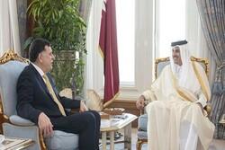 تاکید امیر قطر بر حمایت از ثبات لیبی