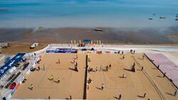 دور نهایی تورهای سه ستاره والیبال ساحلی کشور در بندر درگهان قشم