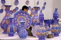 Enameled works on show in Tehran