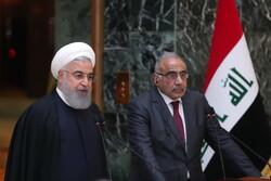 روحاني: التبادل التجاري بين ايران والعراق سيرتفع الى 20 مليار دولار