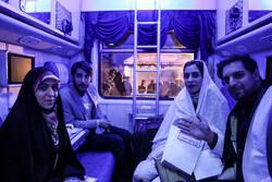بدرقه ۴۰۰ زوج دانشجو به مشهد مقدس با قطار پنج ستاره