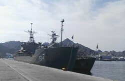Navy's 60th flotilla docking at Muscat's largest port