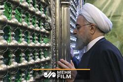 اسلامی جمہوریہ ایران کے صدر حسن روحانی کربلائے معلی پہنچ گئے ہیں۔