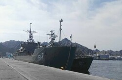 Navy's 60th flotilla docks at Port Sultan Qaboos