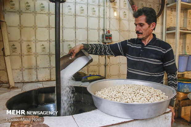 کارگاه تهیه و تولید آجیل عید