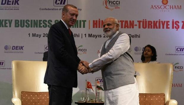 بھارتی وزیراعظم اور ترک صدر کے درمیان فون پر رابطہ