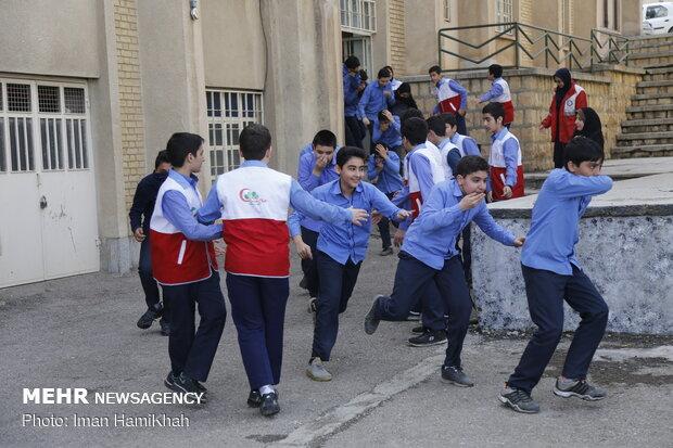 مانور پیشگیری از حوادث چهارشنبه آخر سال در همدان