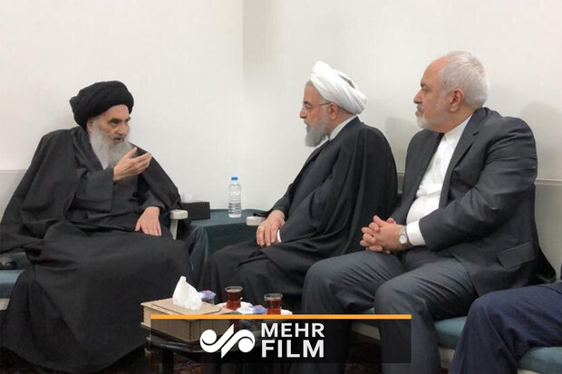 Video: Pres. Rouhani's meeting with Grand Ayatollah Sistani