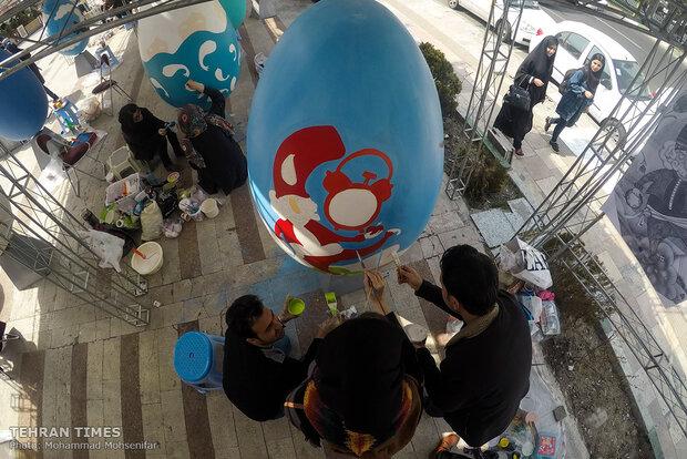 Tehran hosting colored-egg festival