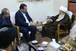 وزیر صنعت با آیات عظام صافی گلپایگانی و نوری همدانی  دیدار کرد