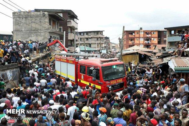 فروریختن ساختمان مدرسه در نیجریه