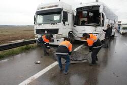 یک کشته در برخورد ٢٠ دستگاه خودرو/ تشریح شرایط جوی جادهها