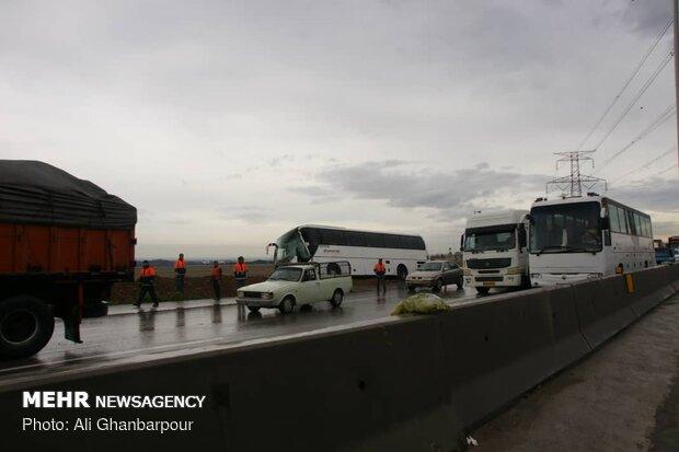 تصادفات جاده ای در اتوبان تهران-قزوین