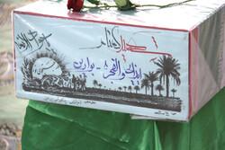 وداع با پیکر شهید گمنام در قم/ تدفین در پادگان شهید زین الدین