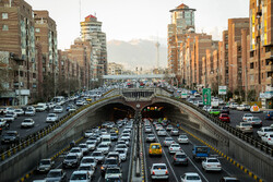 Car traffic in capital Tehran on threshold of New Year