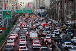 Yılın son günlerinde Tahran trafiği