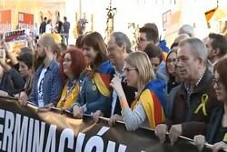 درگیری میان مخالفان و موافقان جدایی کاتالونیا در اسپانیا
