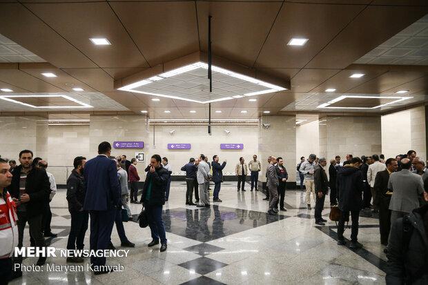 تدشين الخط السابع من مترو أنفاق طهران