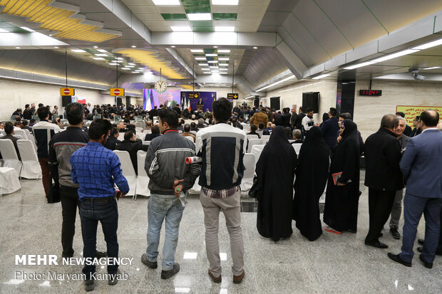 Inauguration of 3 Tehran Metro's new stations