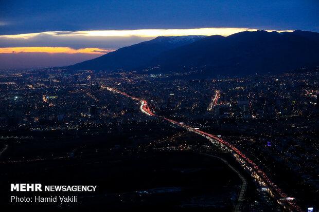 Car traffic in capital Tehran on threshold of New Year