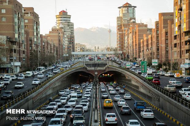 ترافیک صبحگاهی در بزرگراههای پایتخت,