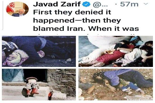 Iran will never forget Halabja disaster, FM Zarif says