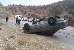 واژگونی سواری پژو در قزوین دو کشته بر جای گذاشت
