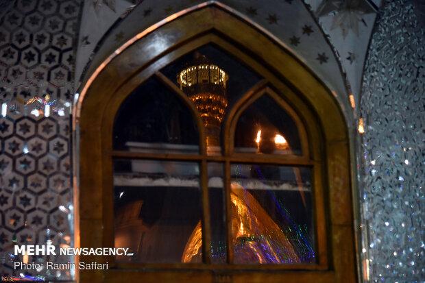 گلباران حرم در شب میلاد امام جواد