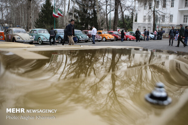 Tahran'da klasik arabalar sergilendi