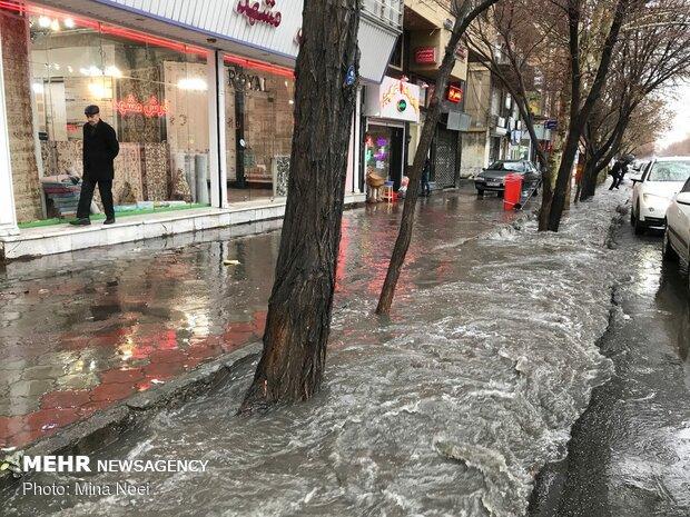 آبگرفتگی در خیابان های تبریز