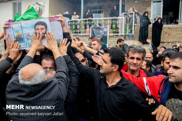 مراسم تشییع پیکر شهید مدافع حرم سید جواد اسدی