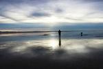 آسمان زیر پا میرود/ دریاچه «مخرگه» بزرگترین آینه طبیعی ایران