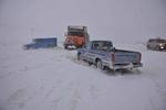 امدادرسانی به ۵۹ خودرو در مهدیشهر/ بارش برف بیسابقه است
