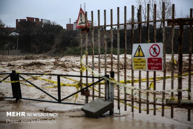River flood hits Sari, northern Iran