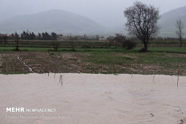Flood damages in Golestan