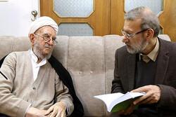 لاریجانی با تعدادی از علما و اساتید حوزه دیدار کرد