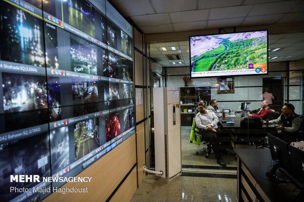 سه شنبه آخر سال در مرکز فرماندهی و کنترل پلیس تهران بزرگ