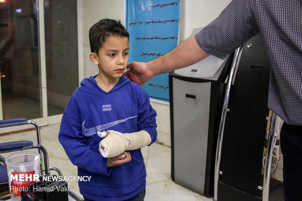 مصدومان حوادث چهارشنبه سوری در استان قزوین به ۷۹ نفر رسید