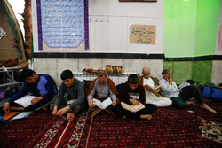 مسجد جامع ہمدان میں اعتکاف کی معنوی تقریب