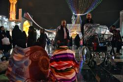 مشہد مقدس میں سال کی آخری شب میں بارش