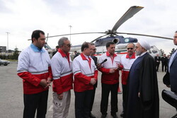روحاني يبدأ عيد النوروز بجولة في على مراكز السلامة والاسعاف