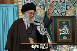 مزاح رهبر انقلاب در دیدار با قاریان قرآن