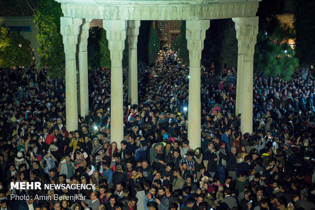 People celebrate New Year in Tomb of Hafez