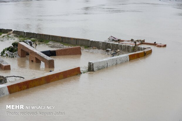 Flood damages in Mazandaran