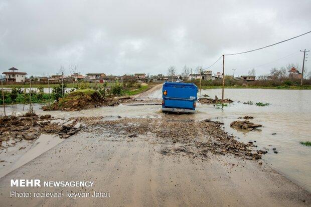 Flood damages in Mazandaran