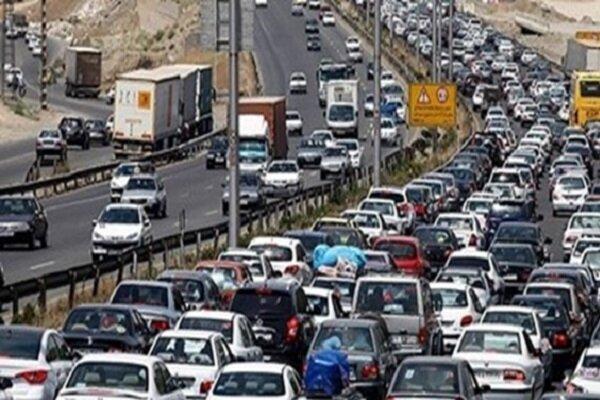 ترافیک سنگین در محور هراز و فیروزکوه