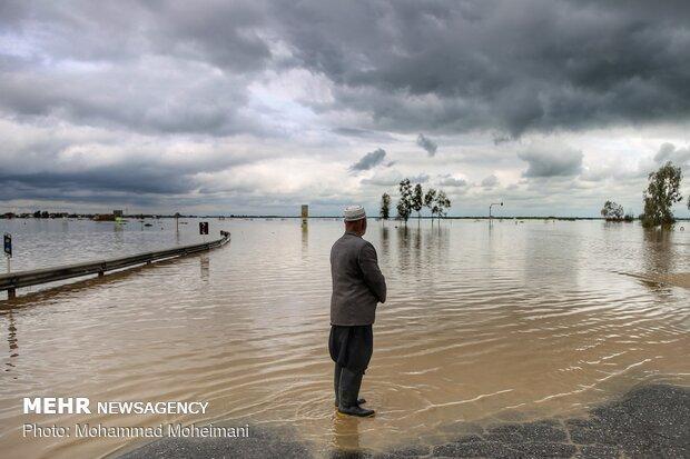 السيول تضرب محافظة كلستان شمالي ايران