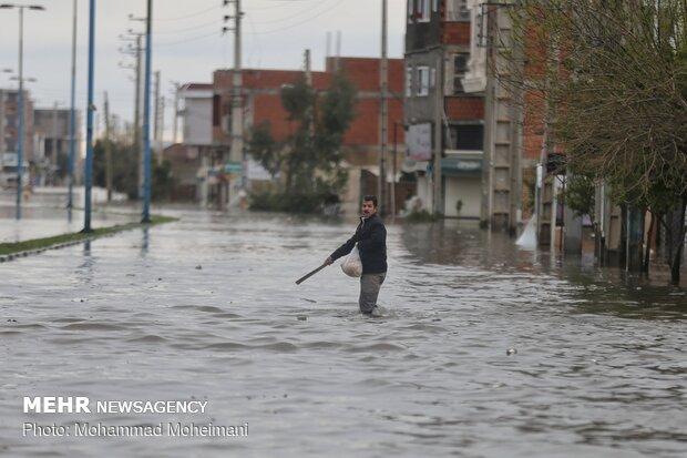 روستاهای گلستان زیر آب رفتند/بارش ۶۰درصد بارندگی سالیانه در۲۴ساعت