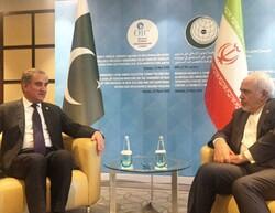 وزیران خارجه ایران و پاکستان دیدار و گفتگو کردند